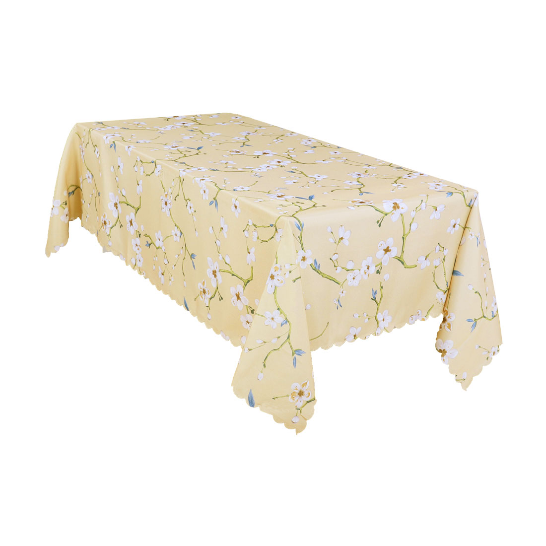 """Tablecloth Cotton-linen Printed Table Cloth for Kitchen Dinner 55"""" x 86"""", Khaki"""