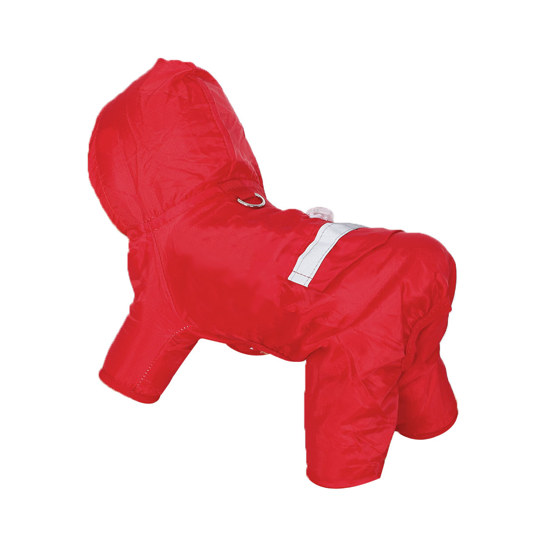 Pet Dog Raincoat Polyester Wind-resistant Rain Chothes for Warmth Red M