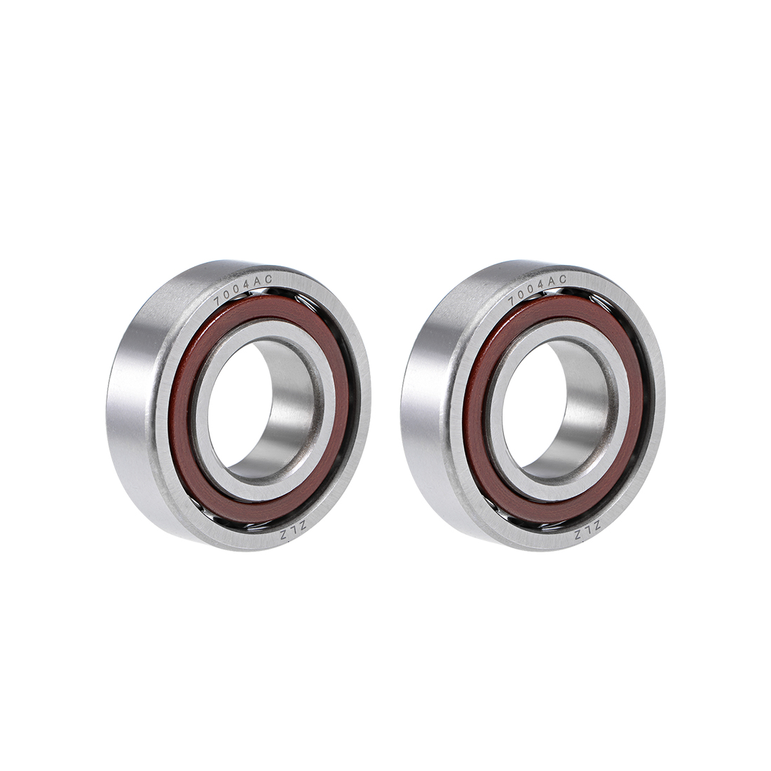 7004AC Angular Contact Ball Bearing 20x42x12mm, Single Row, Open Type 2pcs