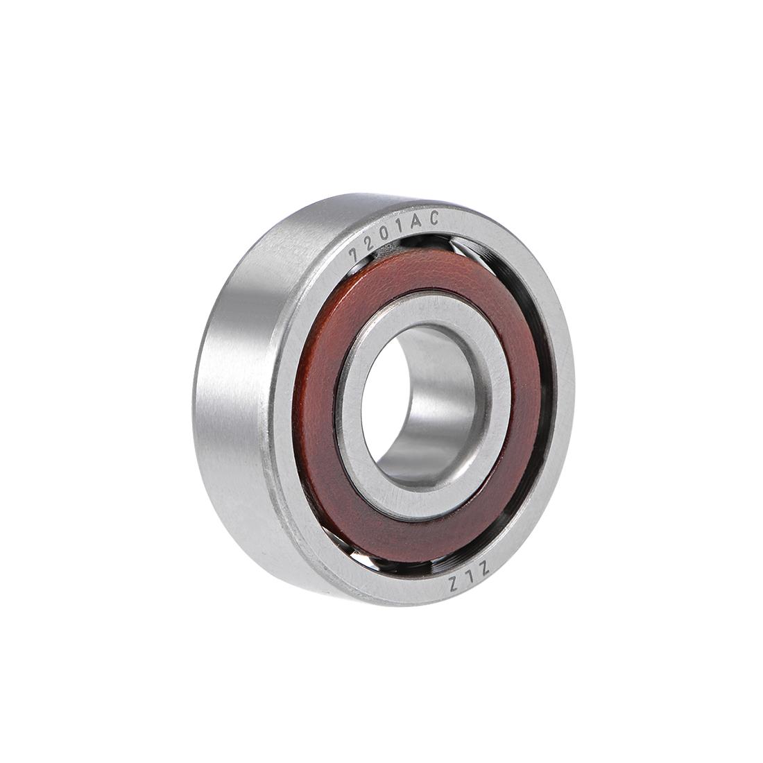 7201AC Angular Contact Ball Bearing 12x32x10mm, Single Row, Open Type
