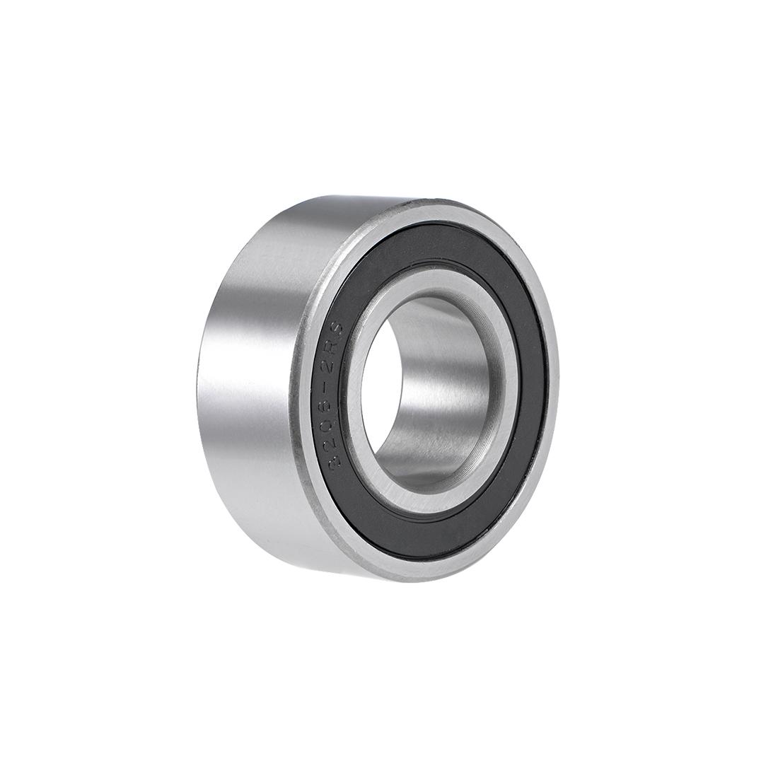 3206-2RS Angular Contact Ball Bearing 30x62x24mm Sealed Bearings 5206-2RS