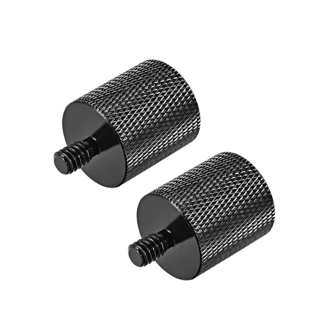 "1/4 Male To 5/8"" Female Threaded Screw Adapter For Microphone Tripod Stand 2pcs"