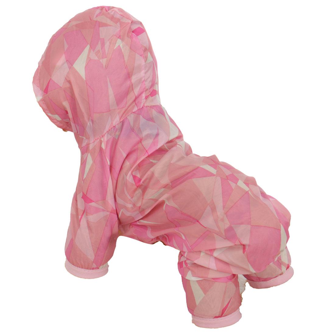 Pet Dog Raincoat Polyester Pet Puppy Water-resistant Rainwear Pink L