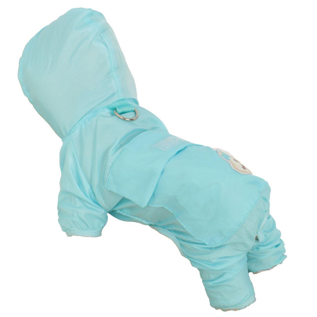 Pet Dog Raincoat Rain Jackets Clothes Water Repellent Rainwear Sky Blue XS