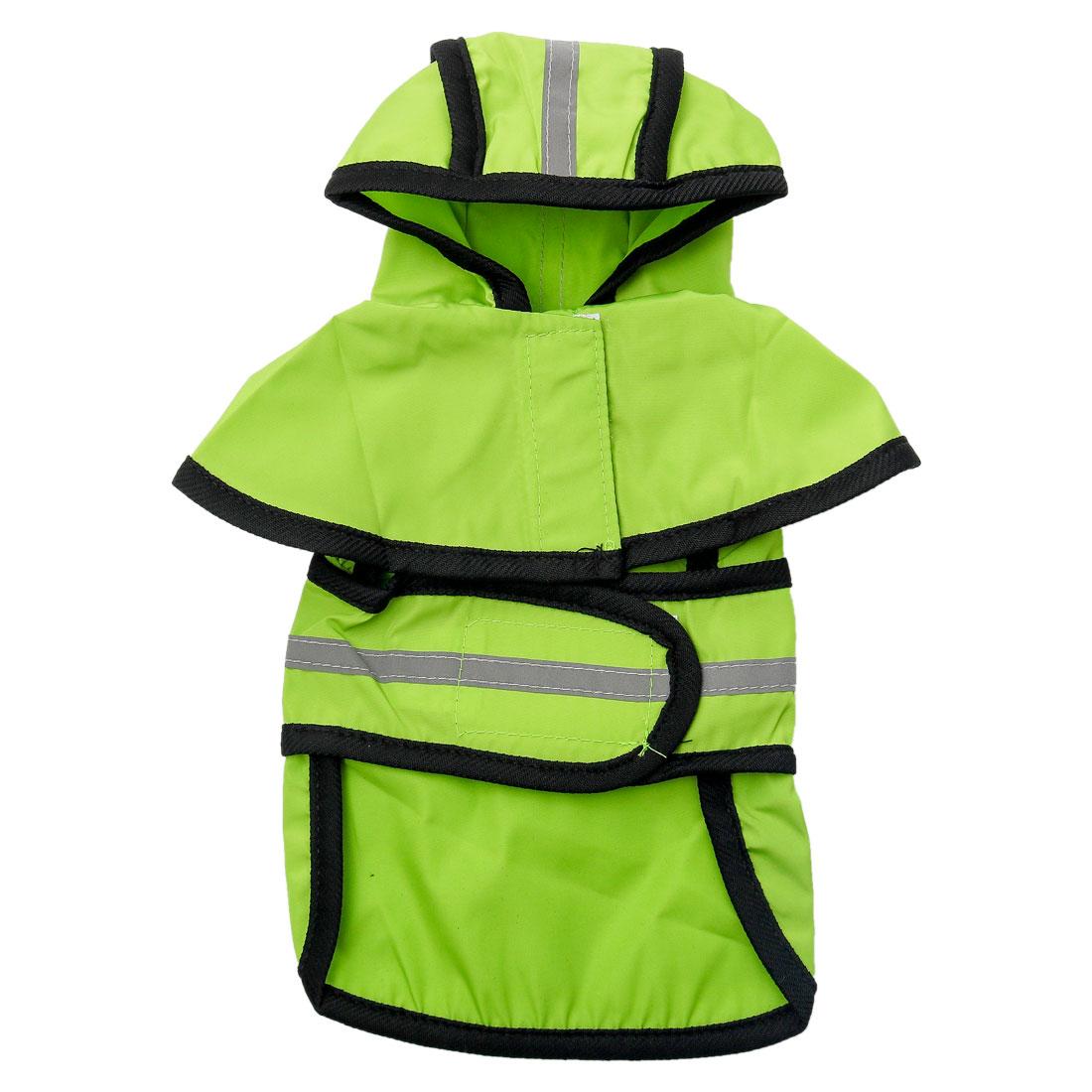 Pet Dogs Raincoat Rain Jacket Poncho Cloth Water-resistant Rainwears Green L