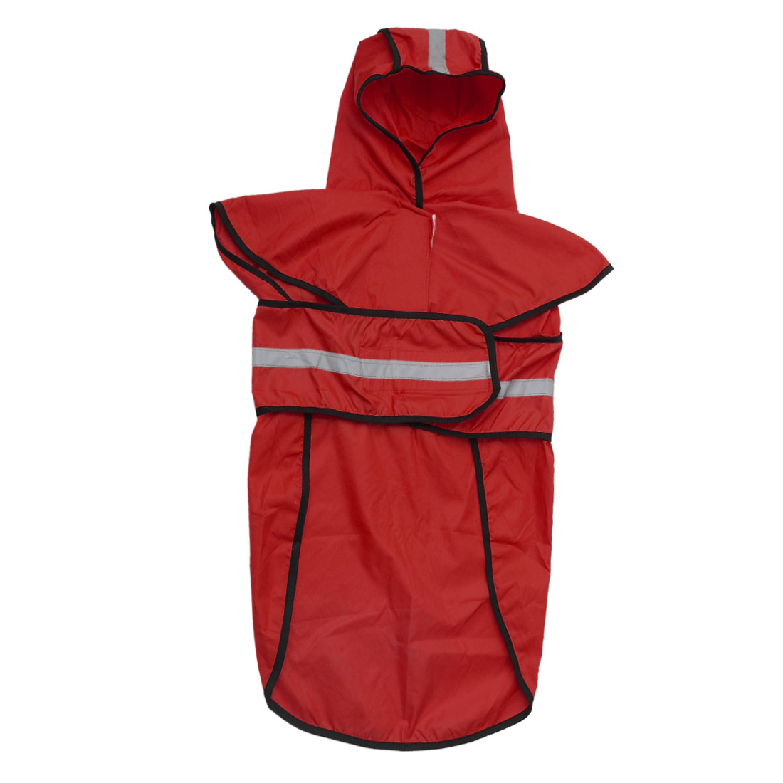 Pet Dogs Raincoat Rain Jacket Poncho Cloth Water-resistant Rainwears Red S