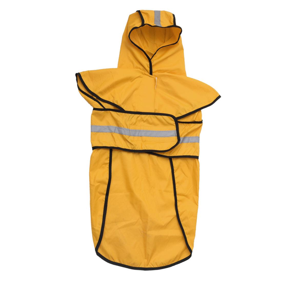 Pet Dogs Raincoat Rain Jacket Poncho Cloth Water-resistant Rainwears Yellow 2XL