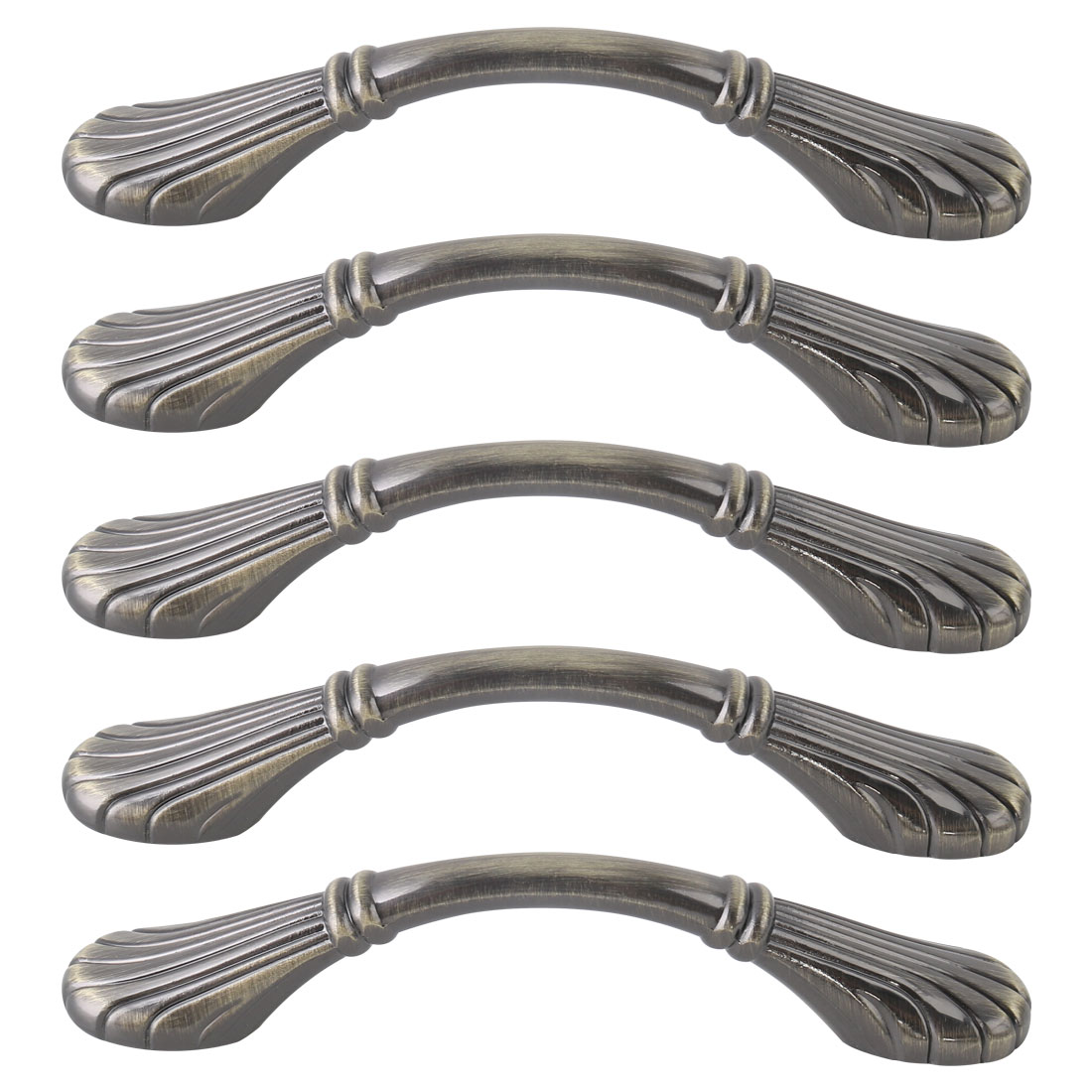 "Cabinet Handle Pull Handle 3.8"" Hole Center Cupboards Bronze Tone 5pcs"