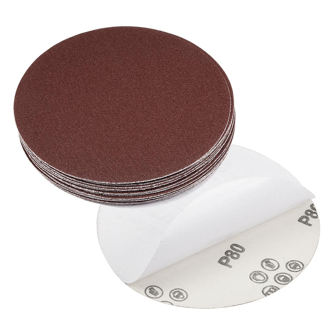 6-inch 80-Grits PSA Sanding Disc, Adhesive-Backed for Orbital Sander 20pcs
