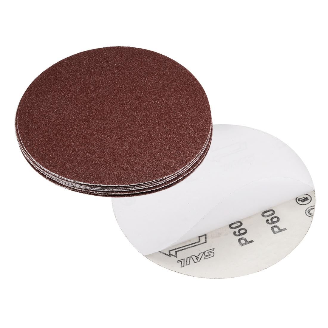 6-inch 60-Grits PSA Sanding Disc, Adhesive-Backed for Orbital Sander 10pcs