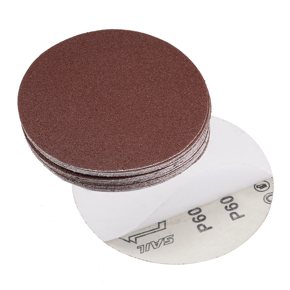6-inch 60-Grits PSA Sanding Disc, Adhesive-Backed for Orbital Sander 20pcs