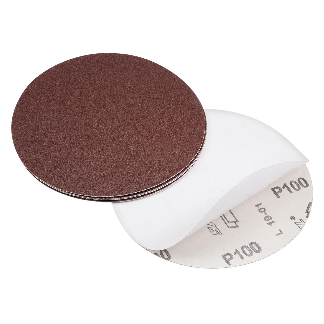 6-inch 100-Grits PSA Sanding Disc, Adhesive-Backed for Orbital Sander 5pcs