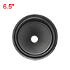 "6.5"" Paper Speaker Cone Woofer Drum Paper 1"" ID Rubber Surround Matte Black"