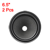 "6.5"" Paper Speaker Cone Drum Paper 1"" ID Rubber Surround Matte Black 2 Pcs"