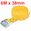 6Mx38mm Lashing Strap Cargo Tie Down with Cam Buckle 500Kg Work Load, Yellow
