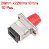 10Pcs SC/FC Fiber Coupler Flange Fiber Optical Adapter Connector Singlemode (DD)