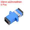 5 Pcs SC to SC Fiber Coupler Flange Fiber Optical Adapter Connector Singlemode