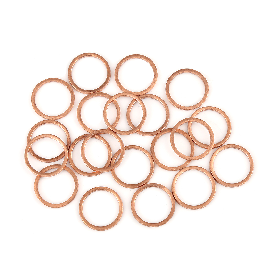 20pcs Copper Washer Flat Sealing Gasket Ring Spacer for Car 15 x 19 x 1.5mm