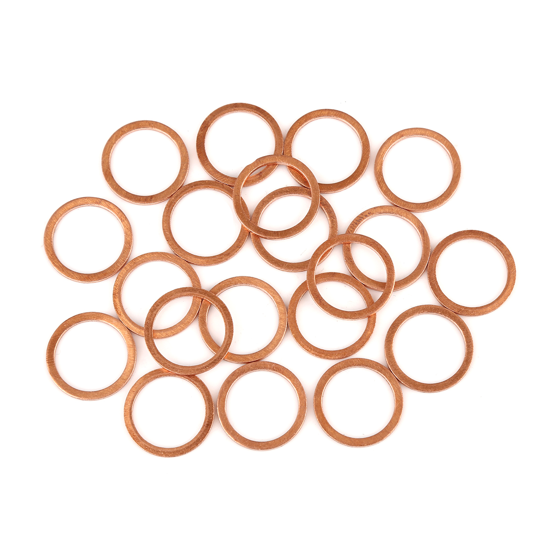 20pcs Copper Washer Flat Sealing Gasket Ring Spacer for Car 17 x 21 x 1.5mm