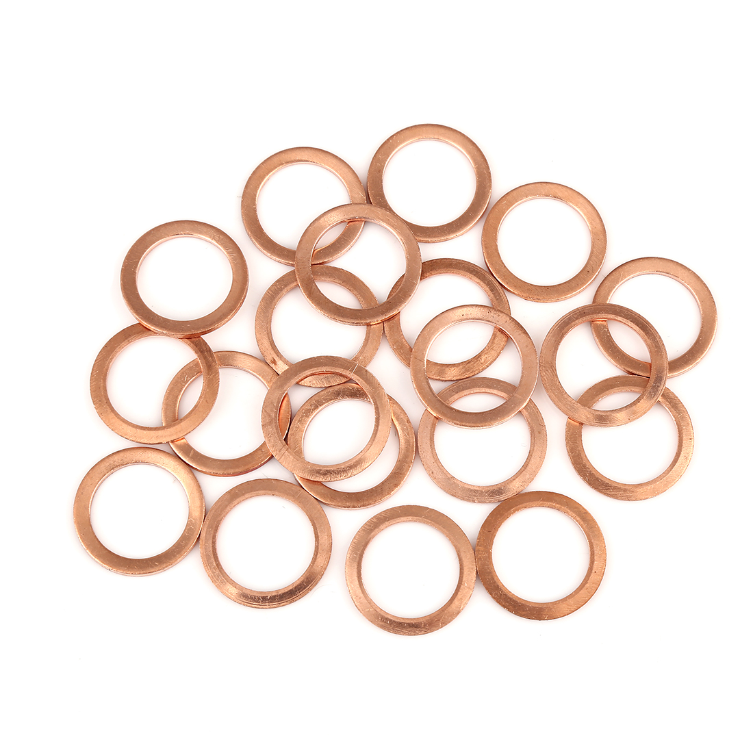20pcs Copper Washer Flat Sealing Gasket Ring Spacer for Car 18 x 25 x 1.5mm