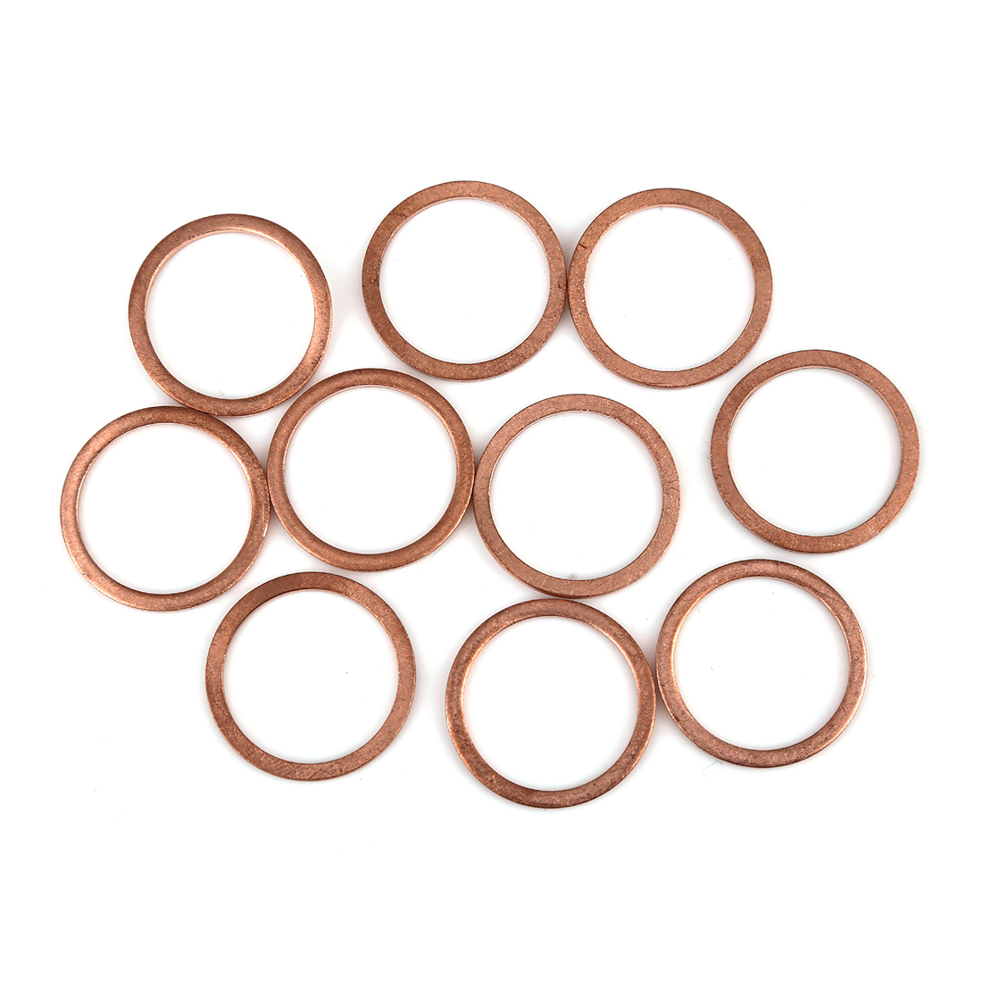 10pcs Copper Washer Flat Sealing Gasket Ring Spacer for Car 22 x 27 x 1.5mm