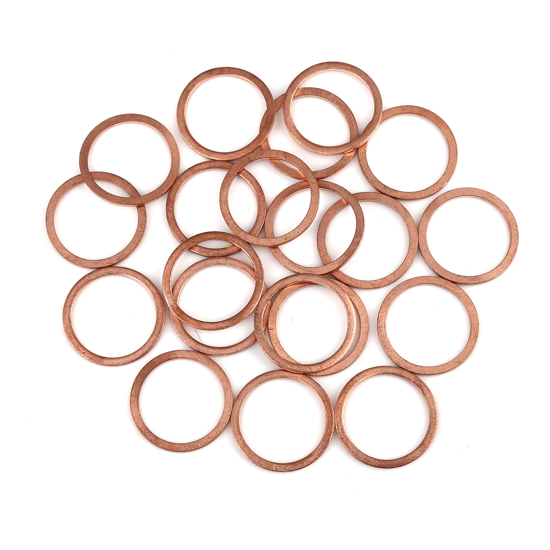 20pcs Copper Washer Flat Sealing Gasket Ring Spacer for Car 22 x 27 x 1.5mm