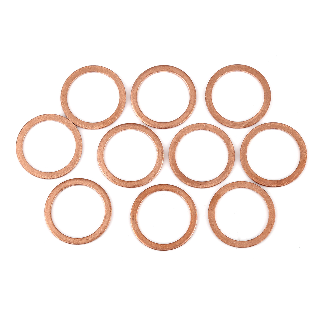 10pcs Copper Washer Flat Sealing Gasket Ring Spacer for Car 22 x 28 x 1.5mm