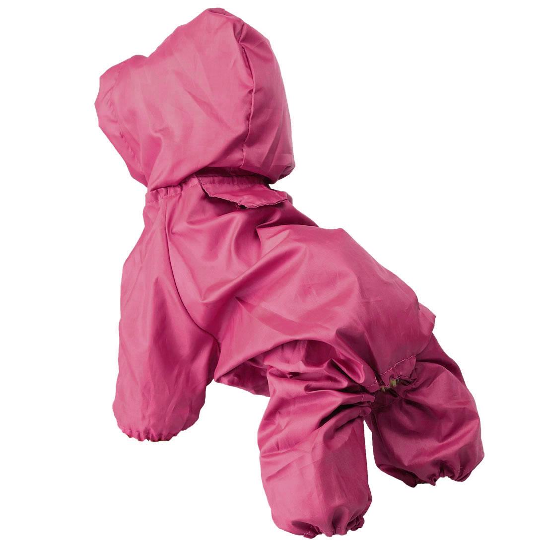 Pet Dog Raincoat Rain Jacket Polyester Water-resistant Rainwear Purple L-XL