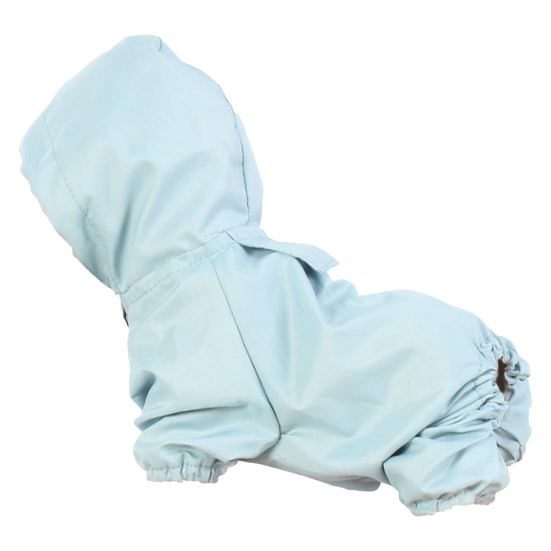 Pet Dog Raincoat Rain Jacket Polyester Water-resistant Rainwear Blue XL