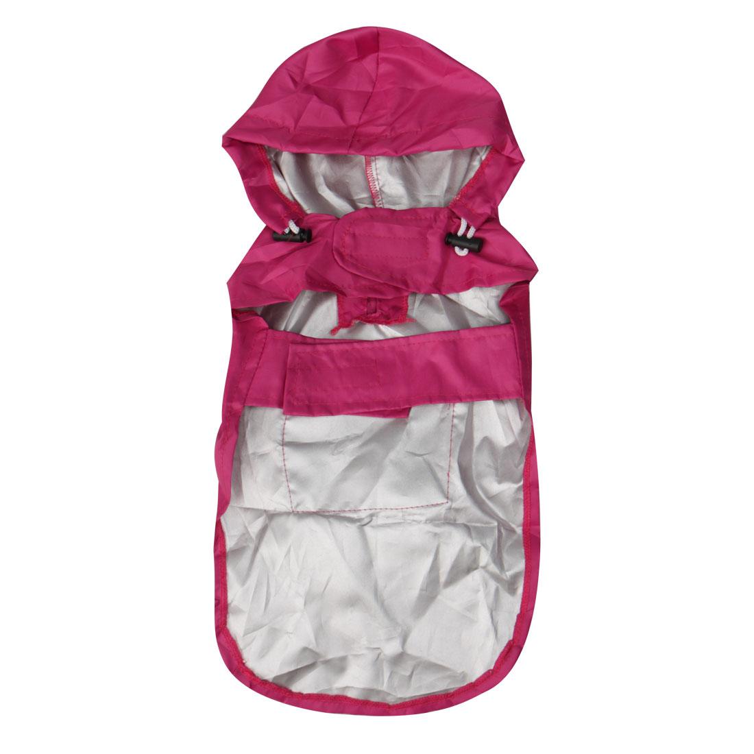 Pet Dog Raincoat Rain Jacket Nylon Water-resistant Rainwear Purple M