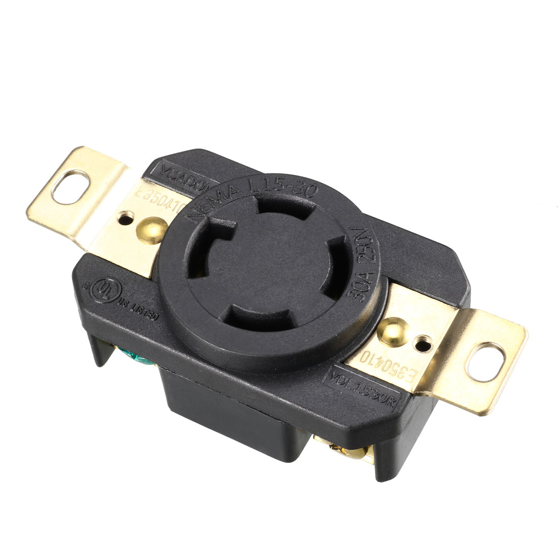 Locking Connector Female NEMA L15-30C, 30A 250VAC 3 Pole 4 Wire Grounding