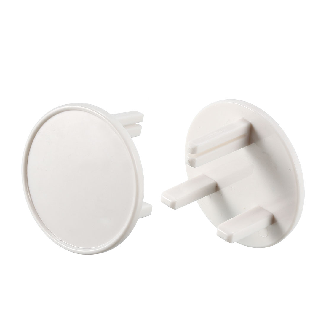 Outlet Plugs Covers Childproof EU Plug Protectors Socket Cover 3-Pin White 20Pcs