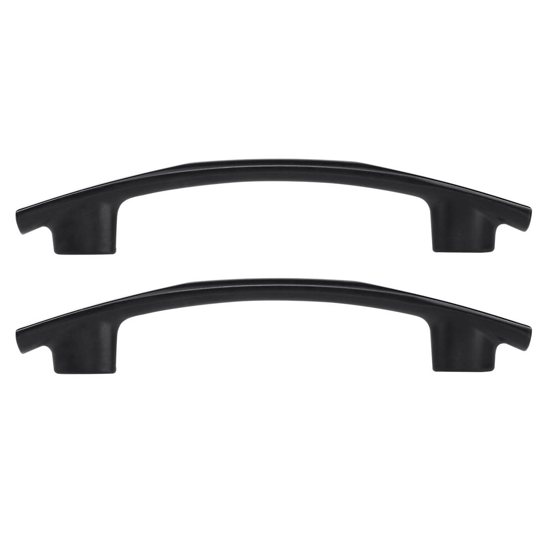 """Cabinet Handle Pull 3.8"""" Hole Center Painting for Cupboard Dresser 2pcs, Black"""