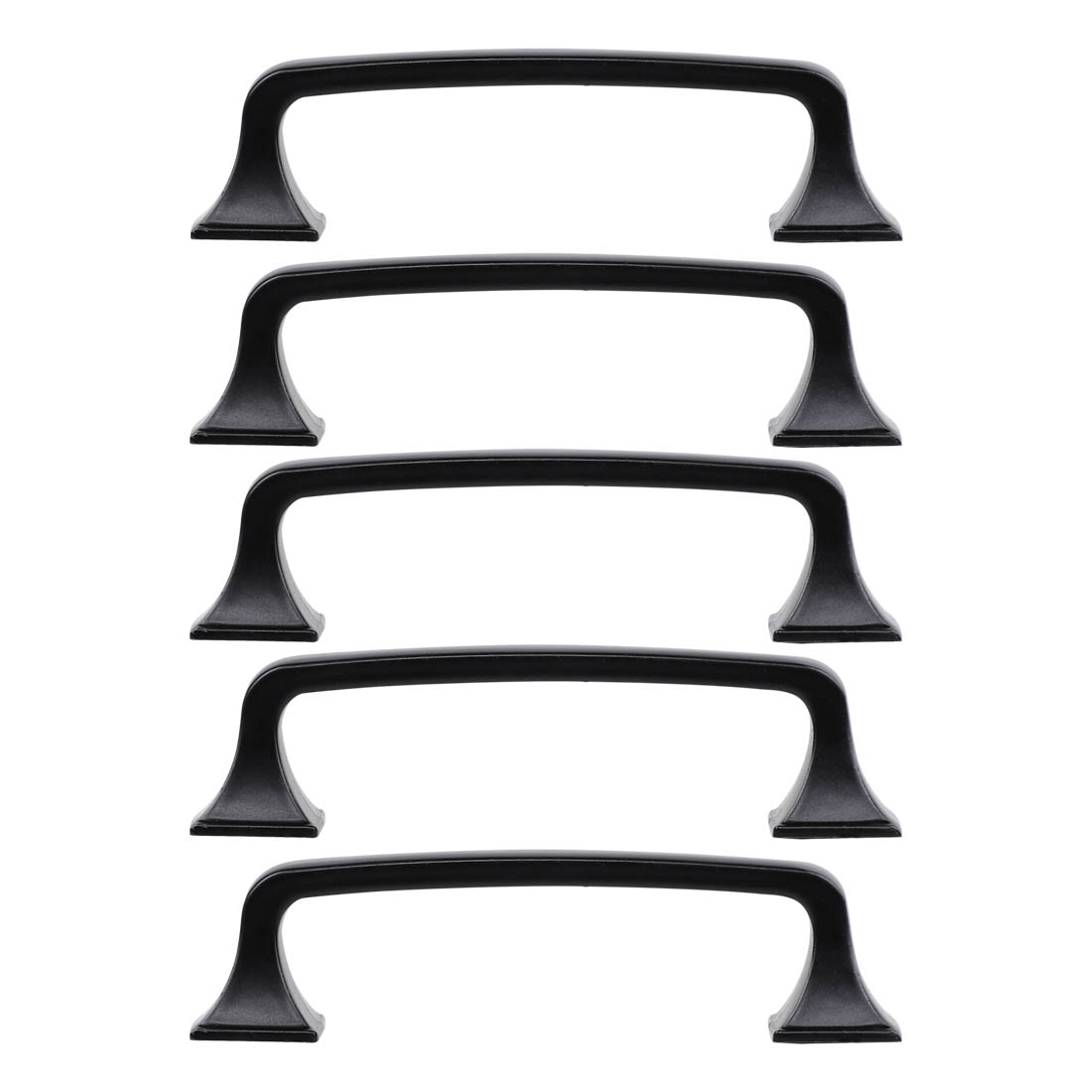 """Cabinet Handle Pull 5"""" Hole Center Painting for Drawer Dresser 5pcs, Black"""