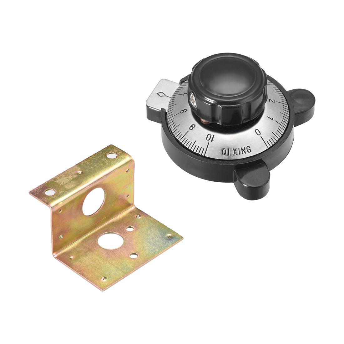 1Pcs 46x37mm Potentiometer Knobs Volume Control Rotary w Dial Face Plate