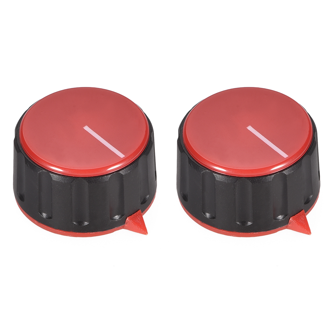 2pcs 6mm Potentiometer Control Knobs For Guitar Acrylic Volume Tone Knobs Red