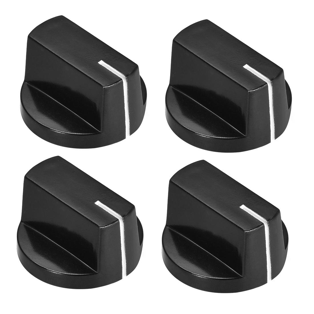 4pcs, 6mm Potentiometer Control Knobs For Guitar Acrylic Volume Tone Knobs Black