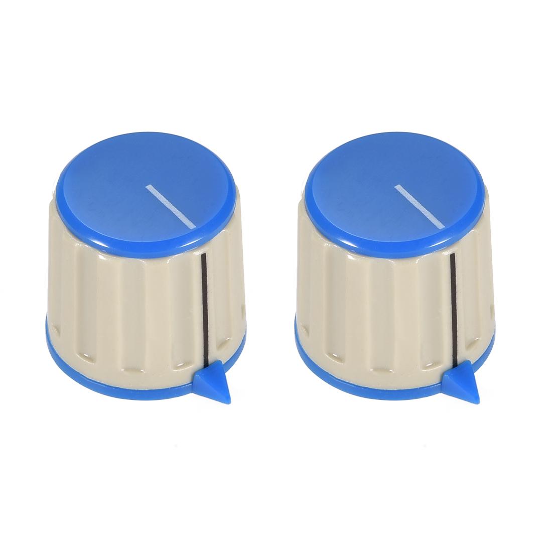 2pcs 6mm Potentiometer Control Knobs For Guitar Volume Tone Knobs Grey Blue