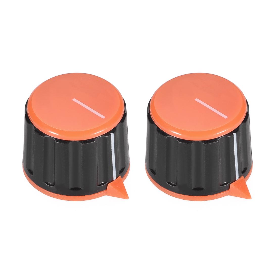 2pcs 6mm Potentiometer Control Knobs For Guitar Acrylic Volume Tone Knobs Orange