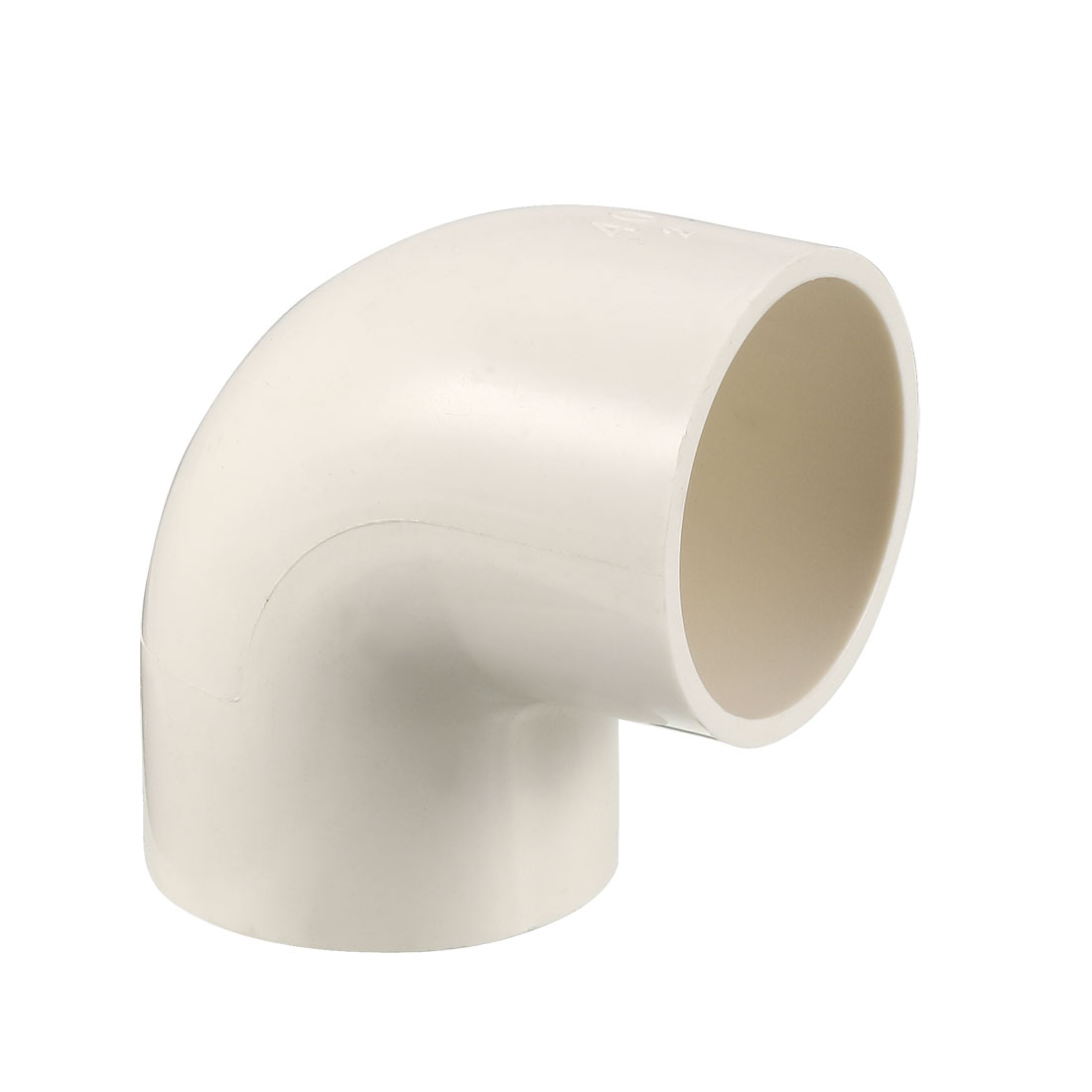 PVC Pipe Fitting 40mm Slip Socket 90 Degree Elbow Coupling Connector White 2Pcs