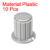 Plastic Potentiometer Rotary Knob, 4mm Insert Shaft 16x16mm Gray 10pcs