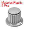 Plastic Potentiometer Rotary Knob 4mm Insert Shaft 16x16mm Gray 5pcs