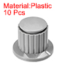 Plastic Potentiometer Rotary Knob 4mm Insert Shaft 26x20mm Gray 10pcs