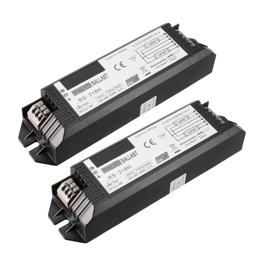 Electronic Ballast 220/240-Volt 13Watt Fluorescent Lamp T5 Ballasts 2pcs