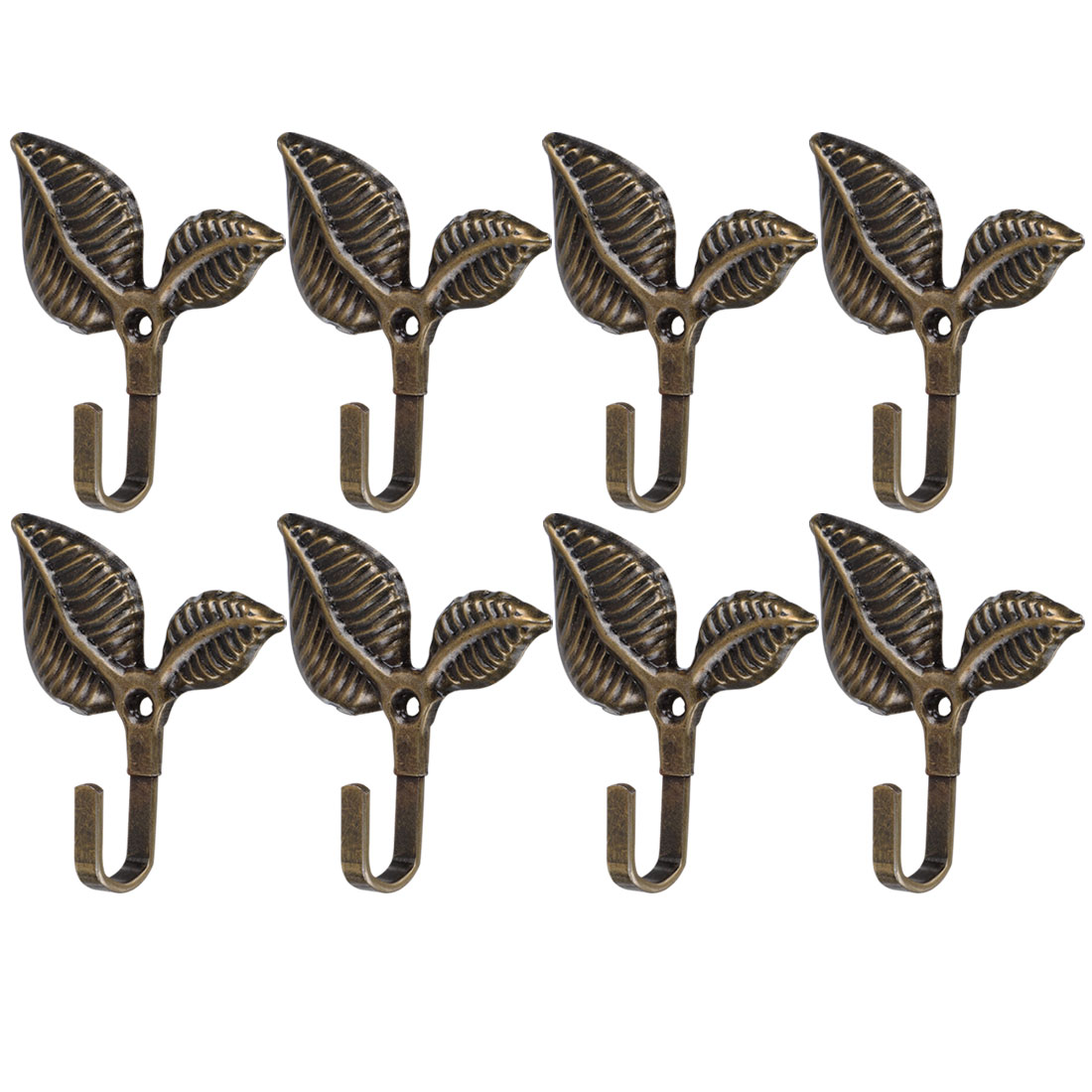 Curtain Tieback Hook Curtain Drapery Holdback For Curtains 8pcs Bronze Tone