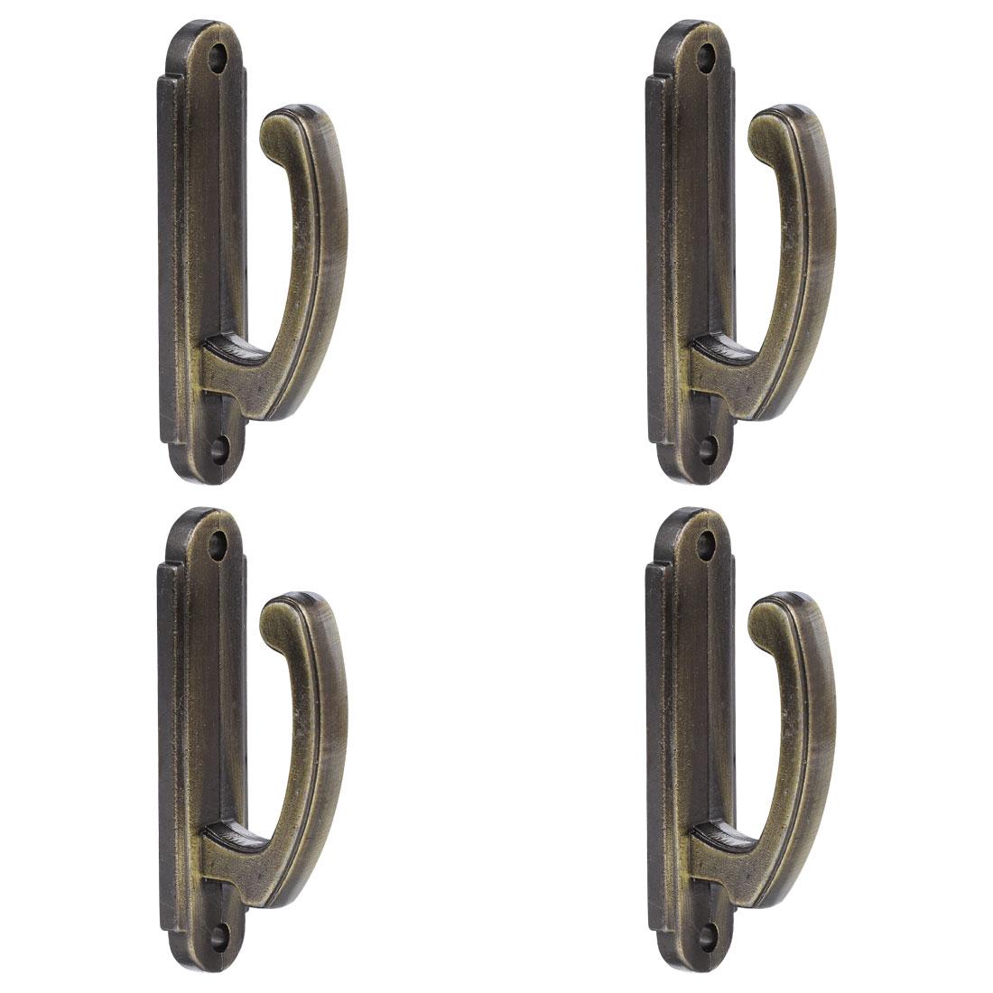 Curtain Tieback Hook, Zinc Alloy Drapery Holdback Screen Hooks 4pcs Bronze Tone