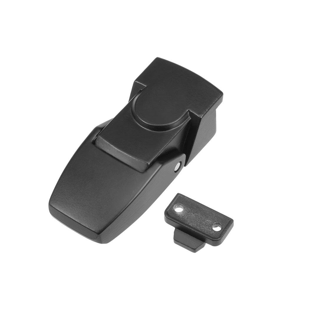 Electric Cabinet Hasp Lock 76mm Long Zinc Alloy Chrome Finish Keyless, Black