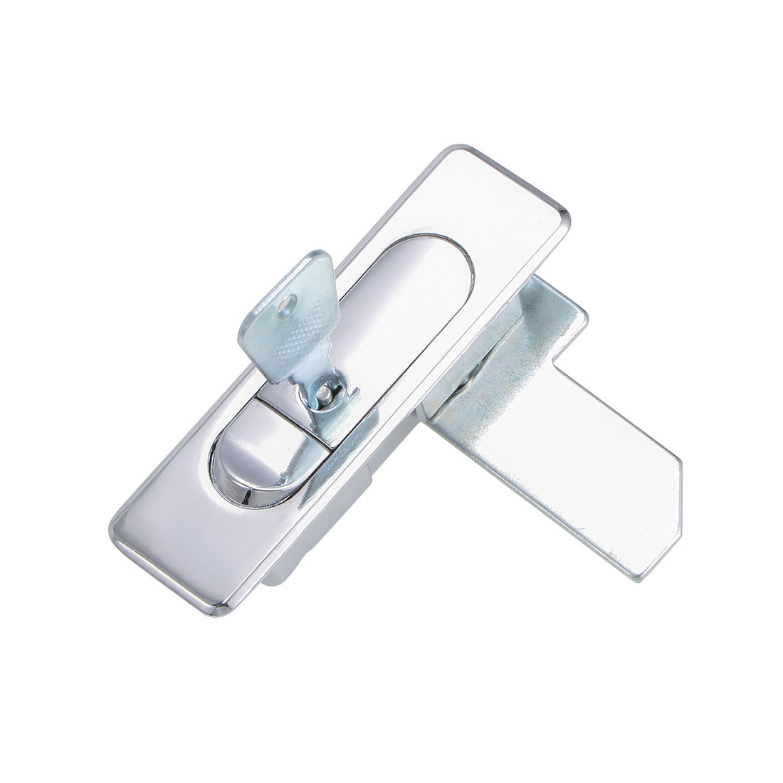 Electric Cabinet Panel Cam Lock Push Button Pop Up Type Door Lock w Key Glossy