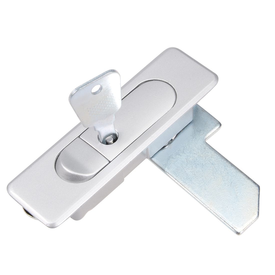 Electric Cabinet Panel Cam Lock Push Button Pop Up Door Lock w Key Frosted 2pcs