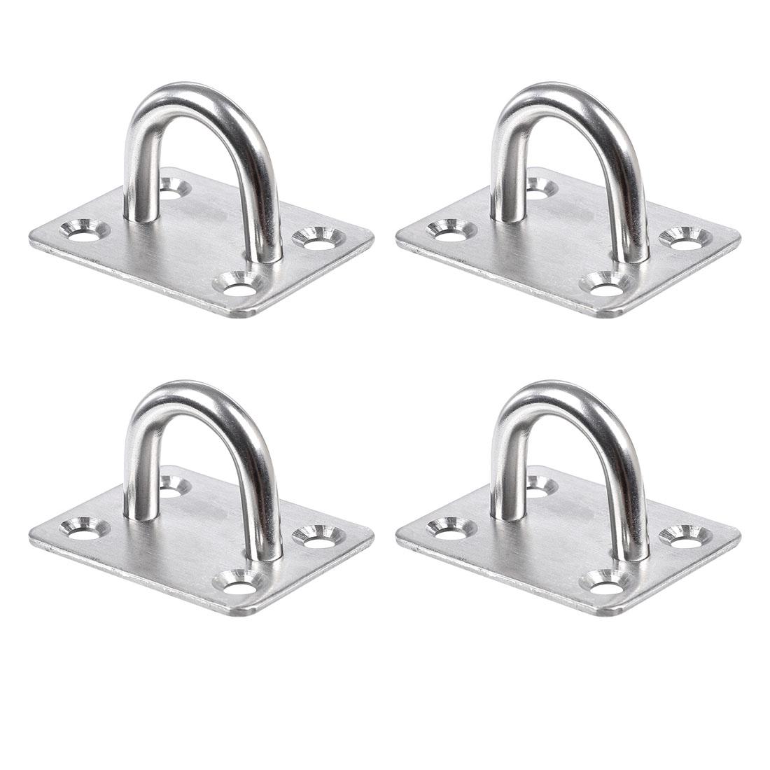1.8 Inch Stainless Steel Window Gate Latch Lock Catch Eye Cabin Hook Plates 4pcs